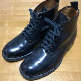 SANDERS - 週末価格!Sanders Boots Plain toeミリタリーブーツ UK8