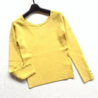 ミッシュマッシュ(MISCH MASCH)のミッシュマッシュ 袖ビジューボタンリブニット(ニット/セーター)