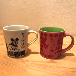 Disney - ミッキーマグカップ ミニーマグカップ