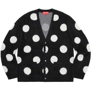 Supreme - L最安値 supreme brushed polka dot cardigan