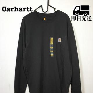 カーハート(carhartt)のCarhartt カーハート ロンT ブラック 黒 長袖 大人気 M(Tシャツ/カットソー(七分/長袖))
