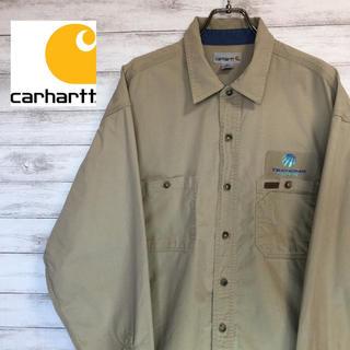 カーハート(carhartt)のcarhartt カーハート ワークシャツ レザータグ XL 送料無料(シャツ)