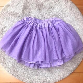 フェリシモ(FELISSIMO)のチュールスカート♡パープル (スカート)