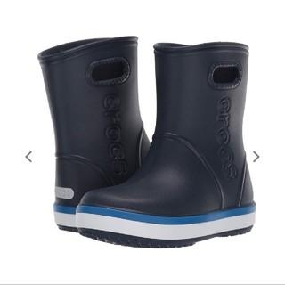 クロックス(crocs)のcrocs キッズ 長靴 17.5センチ 美品(長靴/レインシューズ)