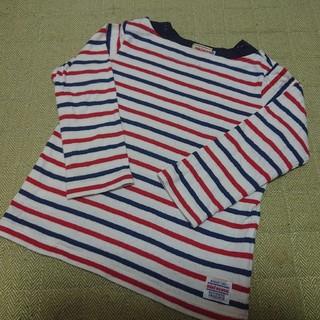 mikihouse - ミキハウス ボートネック重ね着風ボーダー長袖Tシャツ 100
