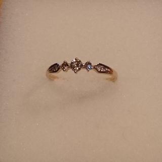 k18ピンクゴールドダイヤモンドリング(リング(指輪))