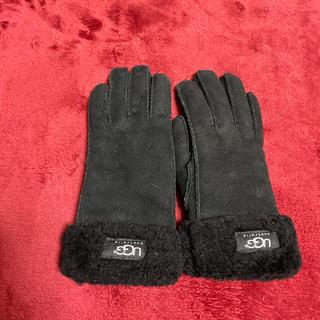 アグ(UGG)のUGG ボア手袋(黒)(手袋)