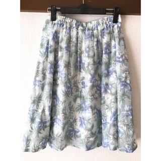 アルシーヴ(archives)の新品未使用♪花柄レーススカート(ひざ丈スカート)