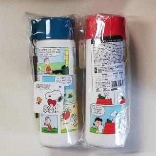 PEANUTS - 新品 スヌーピードリンクボトル 500㎜ 2本セット
