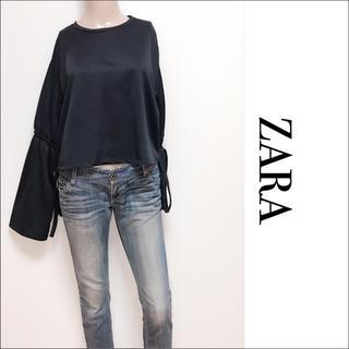 ZARA - ZARA 袖リボン トップス カットソー♡マウジー ムルーア H&M