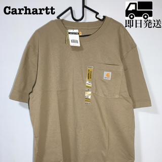 カーハート(carhartt)のCarhartt カーハート 半袖 Tシャツ ブラウン 薄茶色 大人気 (Tシャツ/カットソー(半袖/袖なし))