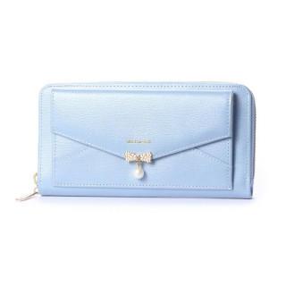 ミッシュマッシュ(MISCH MASCH)の新品 本革 レザー ブルー 水色 長財布 レター型(財布)