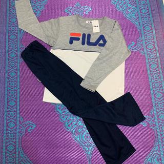 フィラ(FILA)の【新品タグ付き】フィラ FILA レディース スウェット薄手上下セット LL(ルームウェア)