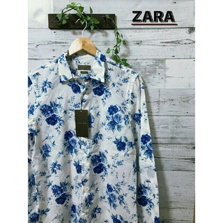 ZARA - 【新品未使用】ZARA  花柄シャツ