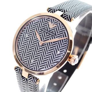 エンポリオアルマーニ(Emporio Armani)のEMPORIO ARMANI 腕時計 レディース クォーツ ブラック ホワイト(腕時計)
