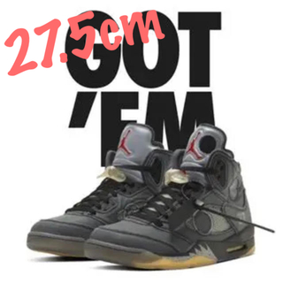 OFF-WHITE - NIKE AIR JORDAN5 OFF-WHITE 27.5cm