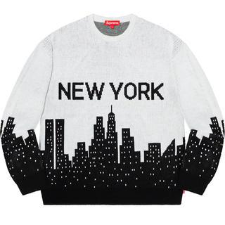 Supreme - 白L Supreme New York Sweater