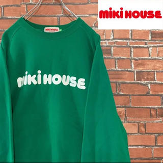 ミキハウス(mikihouse)の《希少》90s ミキハウス デカロゴ スウェット 人気 プリント ビンテージ(スウェット)