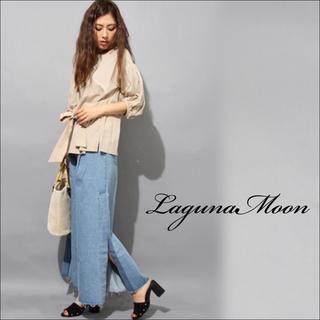 LagunaMoon - LagunaMoon スーパーワイドスリット デニム パンツ♡BEAMS ザラ