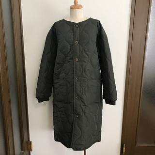 【新品】フララニハワイ キルティングコート 中綿コート カーキ (ロングコート)