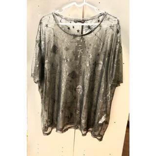 ザラ(ZARA)のメッシュ 光沢 Tシャツ(Tシャツ(半袖/袖なし))