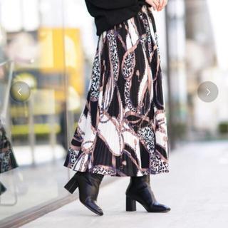 Auntie Rosa - アンティローザ ホリデー新品プリーツスカーフ柄スカート