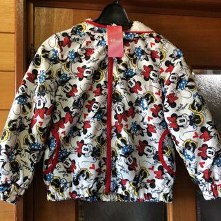 Disney - サイズ120 総柄 ディズニー ミニー ボア ジャンパー ジャケット コート