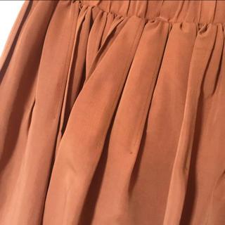 ロペ(ROPE)のROPE◆ロペ フレアスカート ダークオレンジ Sサイズ(ひざ丈スカート)