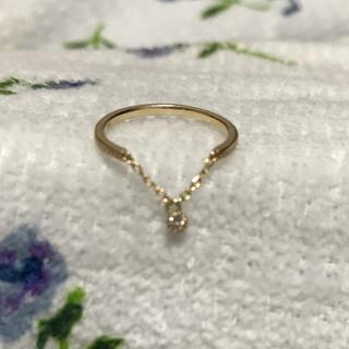 ジュエリーツツミ(JEWELRY TSUTSUMI)のk10  YG ダイヤモンドリング(リング(指輪))