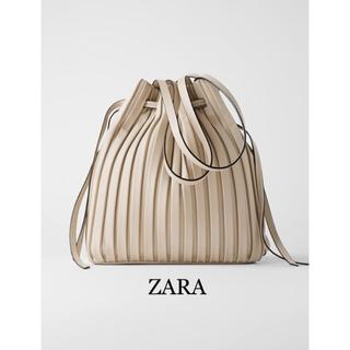 ZARA - 【新品】ZARA★ザラ  プリーツ加工 バスケットバック