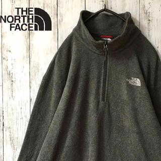 THE NORTH FACE - 【美品☆古着】THE NORTH FACE フリース ハーフジップ グレー