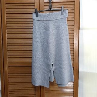 スライ(SLY)のⅢ スライ ニット スカート グレー(ひざ丈スカート)