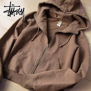 STUSSY - 美品 S ステューシー STUSSY レディース パーカージャケット ブラウン
