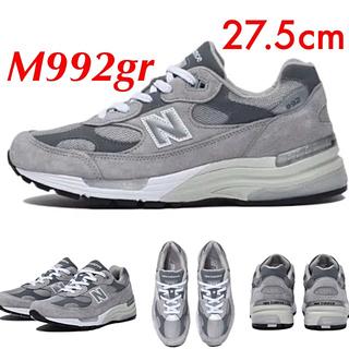 ニューバランス(New Balance)の送料無料 ニューバランス M992GR   27.5cm newbalnce (スニーカー)