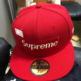 Supreme - supreme ニューエラ  20ss red 71/4 57.5㌢