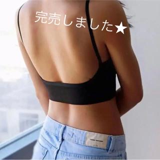 Ameri VINTAGE - 完売しました★入荷予定あります!リブ背中空きキャミソール/パット入り