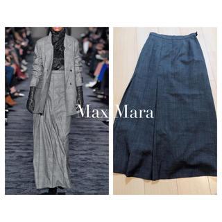 Max Mara - MaxMara チェックロングスカート  マキシスカート