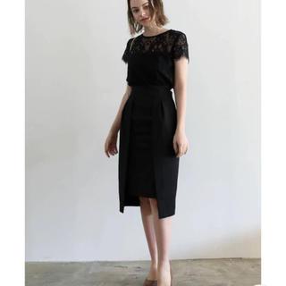 ラグナムーン(LagunaMoon)の新品未使用!ラグナムーン LADYレイヤードレースタイトドレス(ミディアムドレス)