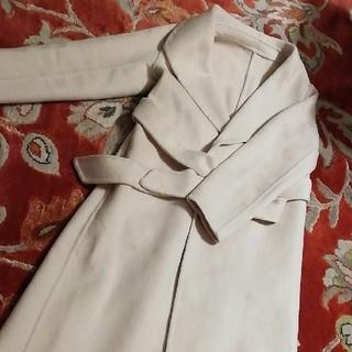 TOMORROWLAND - クリーミーホワイト ホワイト コート スプリング ベルト ウール max