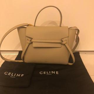 celine - 美品 セリーヌ ベルトバッグ ライトトープ