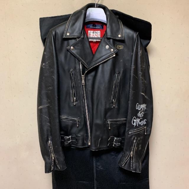 Lewis Leathers(ルイスレザー)のルイスレザー   コムデギャルソン ライダース 38 メンズのジャケット/アウター(ライダースジャケット)の商品写真