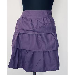GU - ムラサキ 紫 膝丈スカート GU