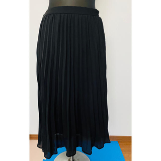 GU - ロングスカート 黒 プリーツスカート GU L ウエストゴム