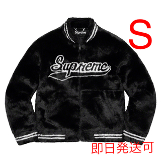 Supreme - Supreme Faux Fur Varsity Jacket Black S