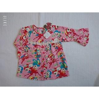 バナバナ(VANA VANA)のVANA VANA / 新品 / バンビ柄 フレアー袖 チュニック ワンピース(Tシャツ/カットソー)