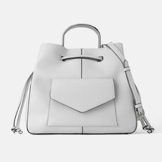 ZARA - zara メタルハンドル付きデザインバッグ ショルダー ハンドバッグ