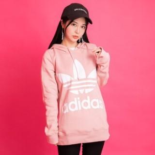 アディダス(adidas)のadidas originals♡ピンクパーカー フーディー(パーカー)