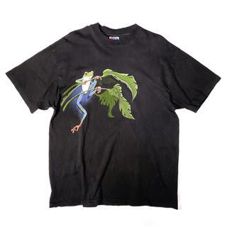 ヘインズ(Hanes)の《アニマルプリント》 90s ハーレークインNG Tシャツ カエル USA製(Tシャツ/カットソー(半袖/袖なし))