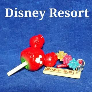 Disney - ディズニーリゾート 夏祭り イヤホンジャック ミッキー  りんご飴 使用感あり