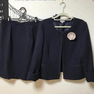 本日限定  noannu  スカートスーツ ブローチ付き 大きいサイズ